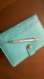 fancy journal and pen
